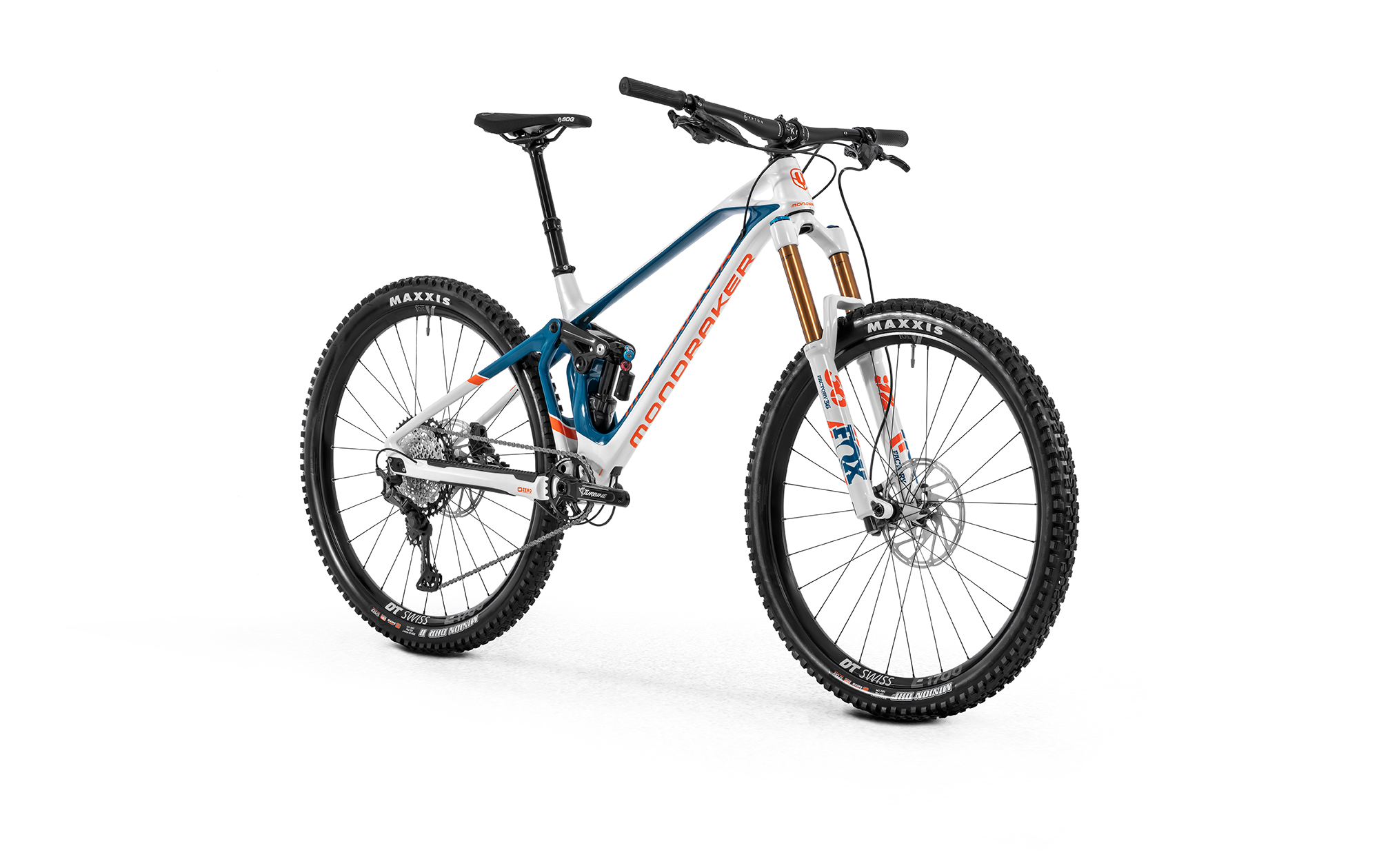Super Foxy Carbon R, white/petrol/fox orange, 2020