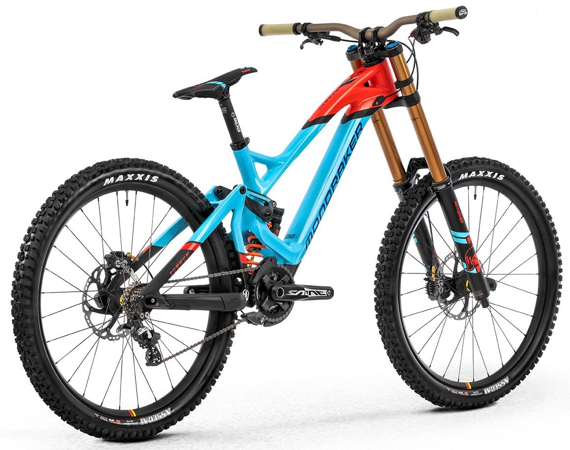Summum Carbon Pro Team 27.5, light blue/flame red/carbon, 2020
